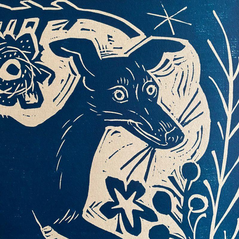 Longdog print by Mark Hearld