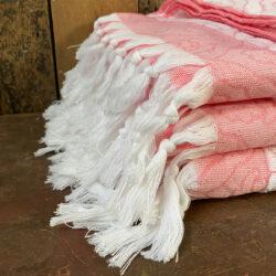 Turkish Cotton Bath Towel - Coral