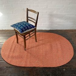 Recycled Plastic Braided Rug - Paprika