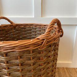 Two Tone Willow Log Basket