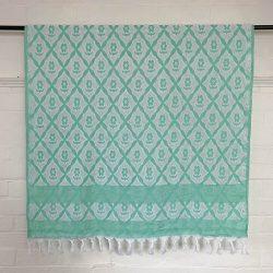 Turkish Cotton Bath Towel - Mint Green