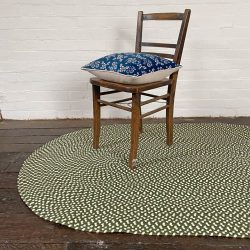 Recycled Plastic Braided Rug - Olive Green