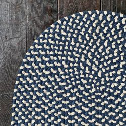 Recycled Plastic Braided Rug - Navy