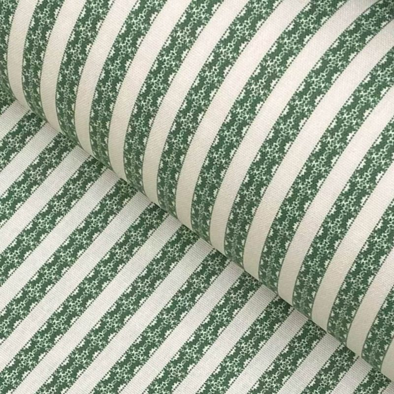 Keswick Stripe leaf green