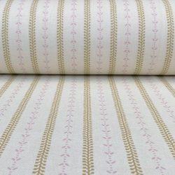 Maya Stripe - Soft Gold and Pink