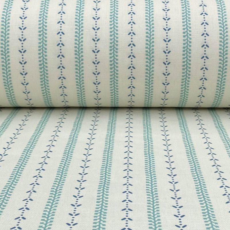 Maya Stripe - Seagreen and Indigo