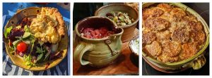 Russell Kingston Stoneware with Food Tinsmiths