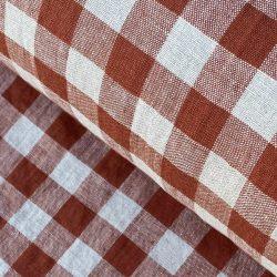 Washed Linen Check Brick