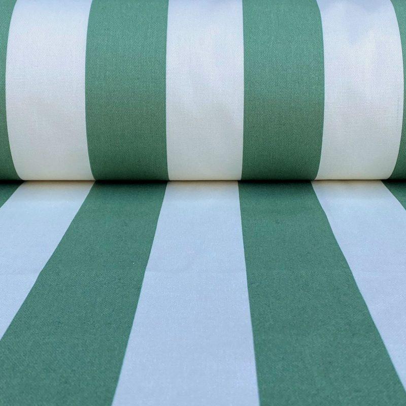 Broad Stripe - Leaf Green on Ivory