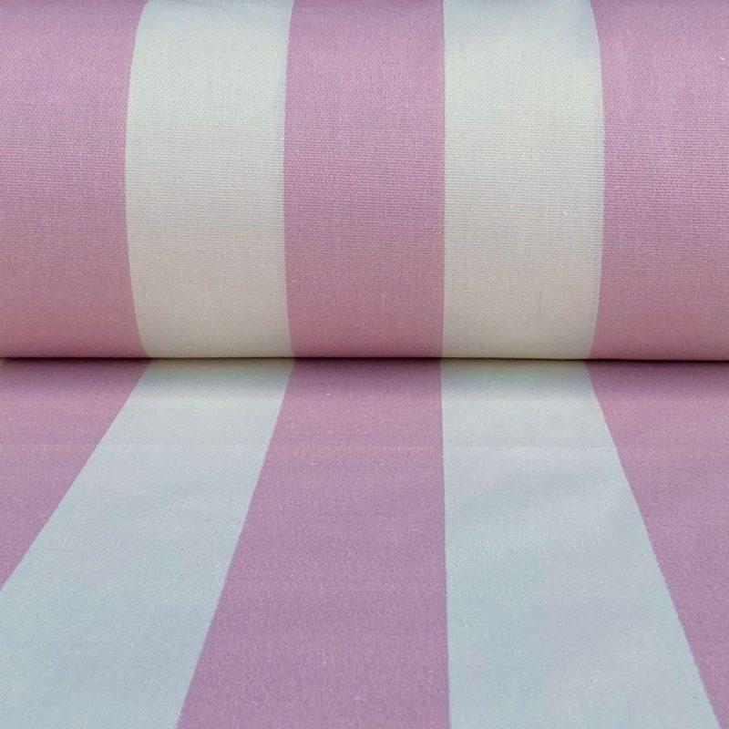 Broad Stripe - Pink on Ivory