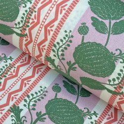 Haddon Stripe - Pink and Leaf Green