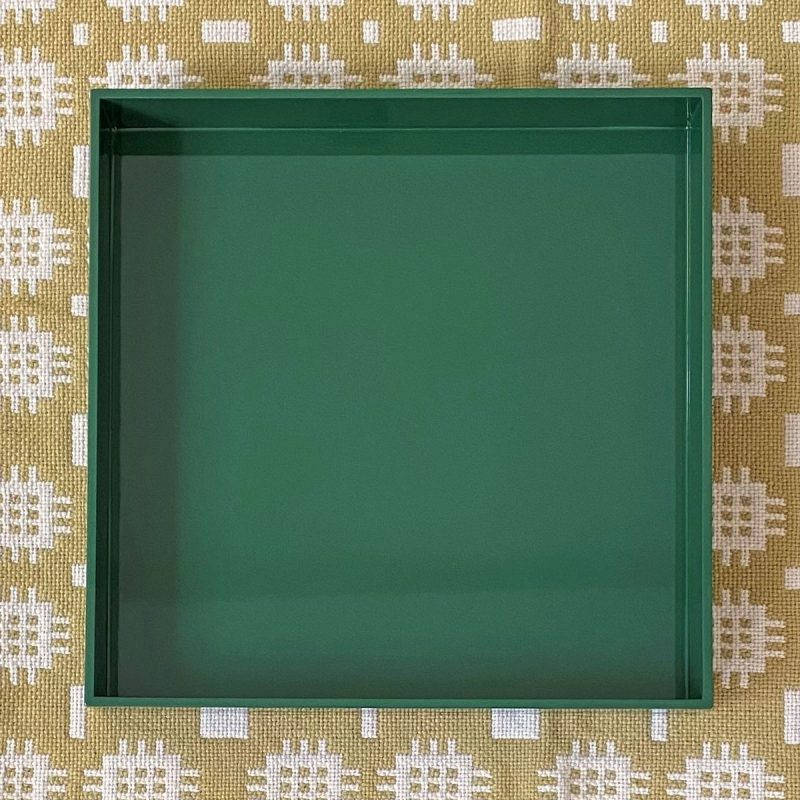 Large Square Lacquer Tray - Forest GreenLarge Square Lacquer Tray - Forest Green