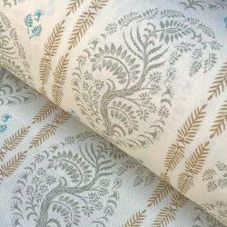 Larisa Stripe - Sage and Soft Gold on Ivory