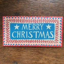 Pack of Ten Long Cards - Merry Christmas
