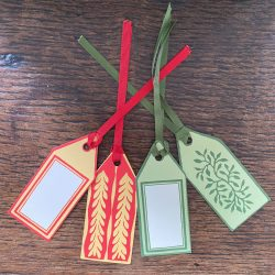 Pack of 5 Gift Tags with Ribbon