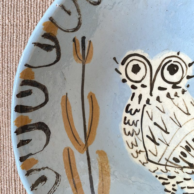 James Burnett Stuart Ceramic Owl Bowl