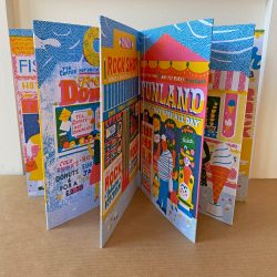 Along The Pier - a Concertina Book by Louise Lockhart