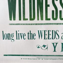 Wildness Tilley Letterpress poster Tinsmiths