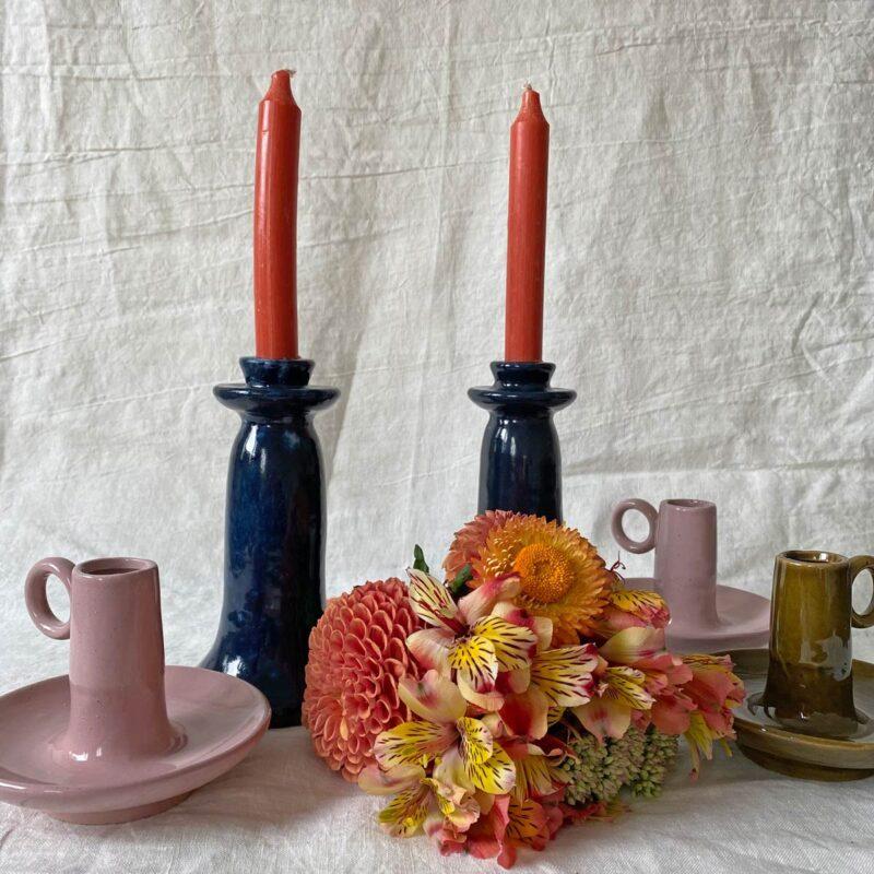 Glazed Ceramic Chamberstick