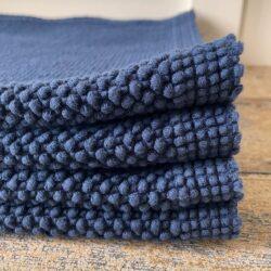Heavy Cotton Bathmat Navy