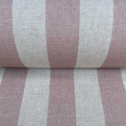 Broad Stripe Pink on Natural