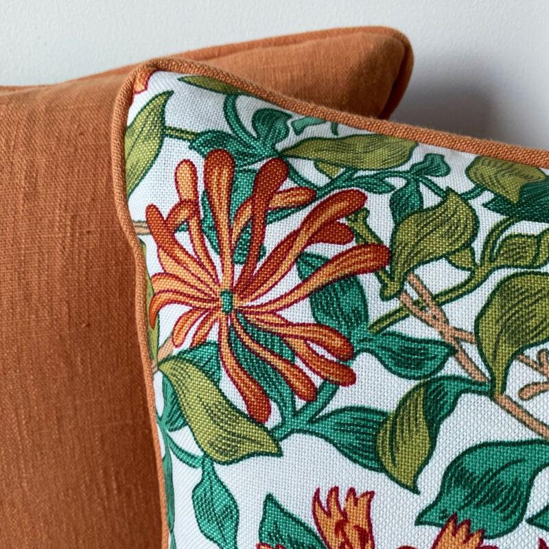Morris Summer Honeysuckle Cushion Tinsmiths