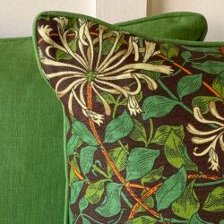 Morris Autumn Honeysuckle Cushion Tinsmiths