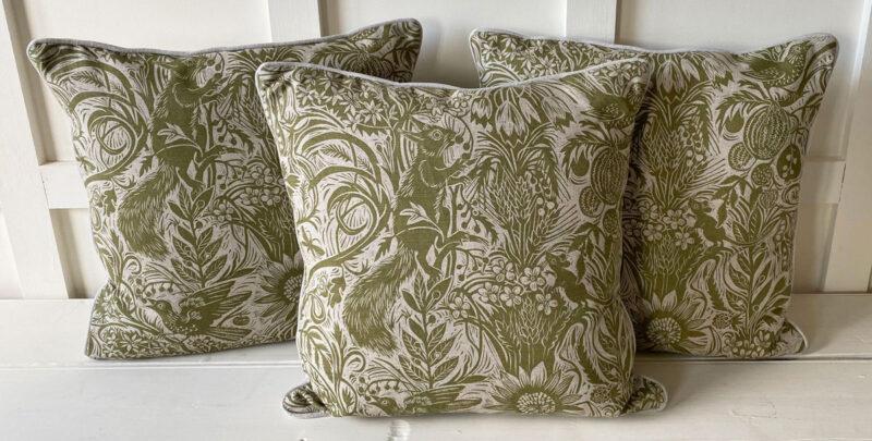 Mark Hearld Squirrel Sunflower Cushion Tinsmiths