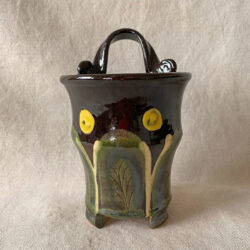 French Country Pottery Utensil Holder - FCPBRU1