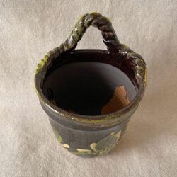 French Country Pottery Utensil Holder - FCPBRU2