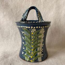 French Country Pottery Utensil Holder - FCPBRU3