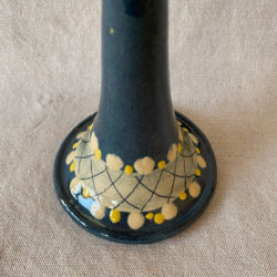 French Country Pottery Large Candlestick - FCPLCS11