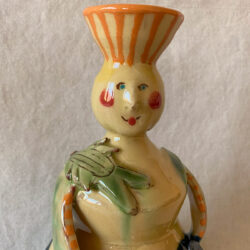 French Country Pottery Lucie Candlestick - FCPMADG1
