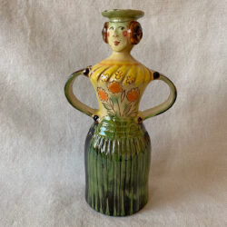 French Country Pottery Lucie Candlestick - FCPMADG2