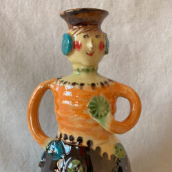 French Country Pottery Lucie Candlestick - FCPMADG3