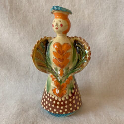 French Country Pottery Medium Lucie Candlestick - FCPMADM4