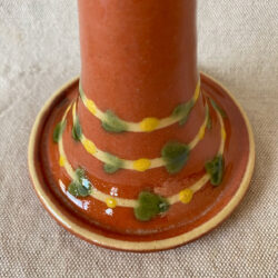 French Country Pottery Small Candlestick - FCPMCS9