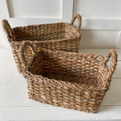 Set of Two Seagrass Baskets