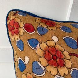 Vintage Hand Painted Kalamkari Cushion