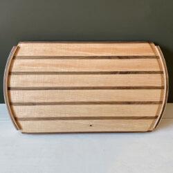 Hardwood Serving Tray - Ripple Ash and Walnut