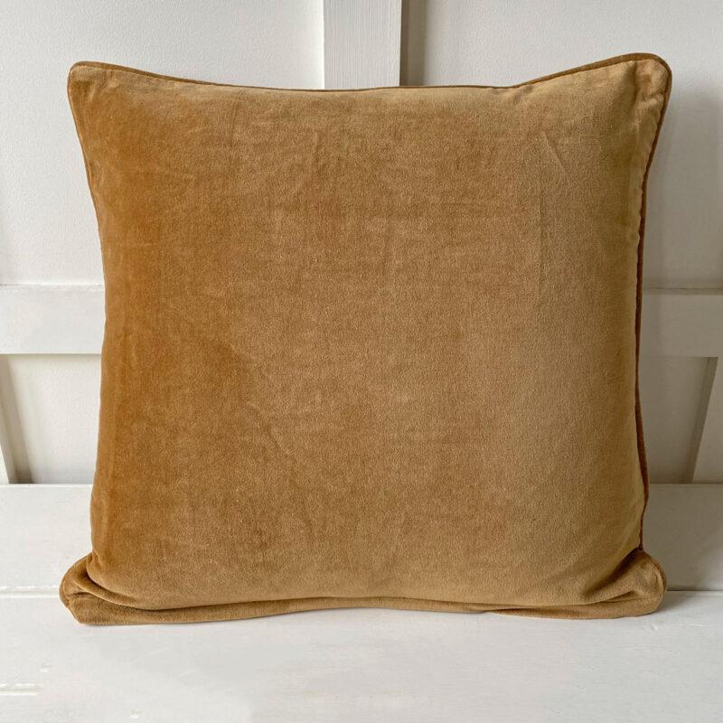 Velvet Cushion - Amber