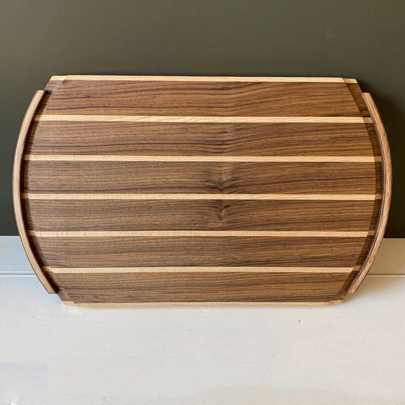 Hardwood Serving Tray - Walnut & Ripple Ash