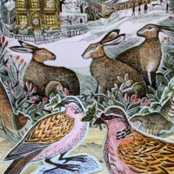 We Three Hares Advent Calendar by Angela Harding