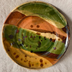 Burgundy Pottery Small Plate - FCPASI9