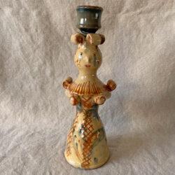 Burgundy Pottery Lucie Candlestick - FCPSLUC10