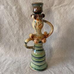 Burgundy Pottery Lucie Candlestick - FCPSLUC9