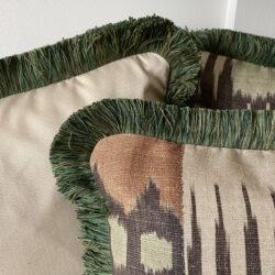 Kimono Ginger Green Cushion Tinsmiths