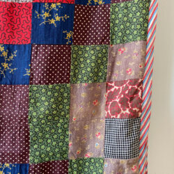 19th Century American Feed Sack Patchwork Quilt