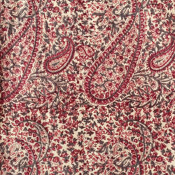 Block Printed Tea Towel - Ruby Paisley